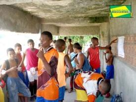 crianças do projeto lanchando 2