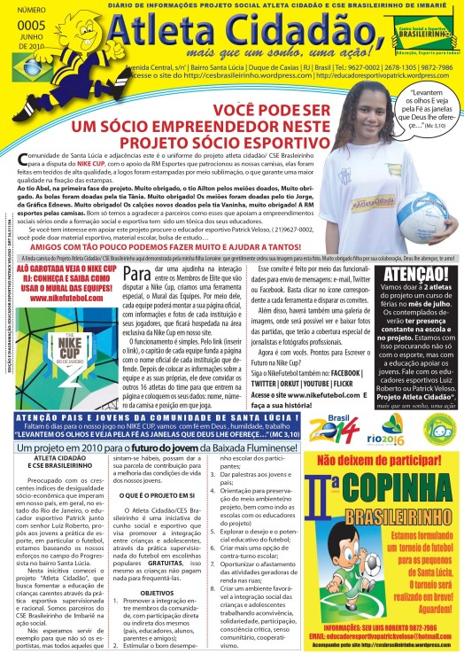 Jornalprojetoatletaciddãocsebrasileirinhonº5