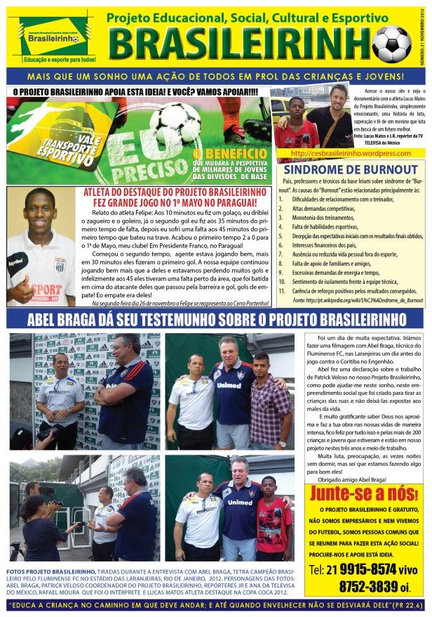 Jornal Projeto Brasileirinho - Edição 31 - Novembro - 2012