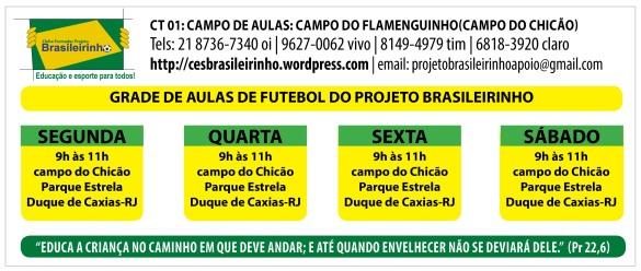 GRADE DE TREINOS CAMPO DO CHICÃO