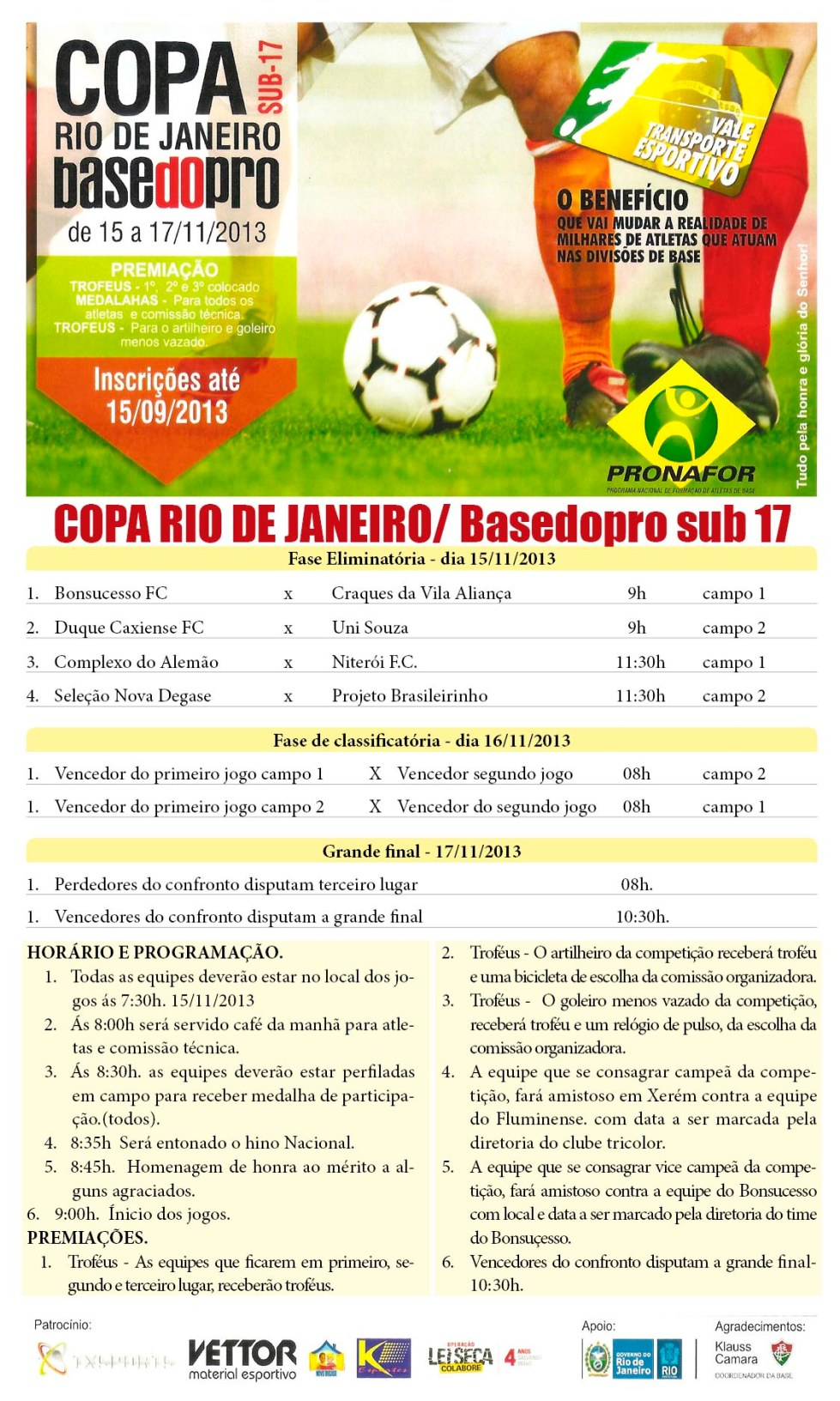 Tabela Copa BasedoPro 2013