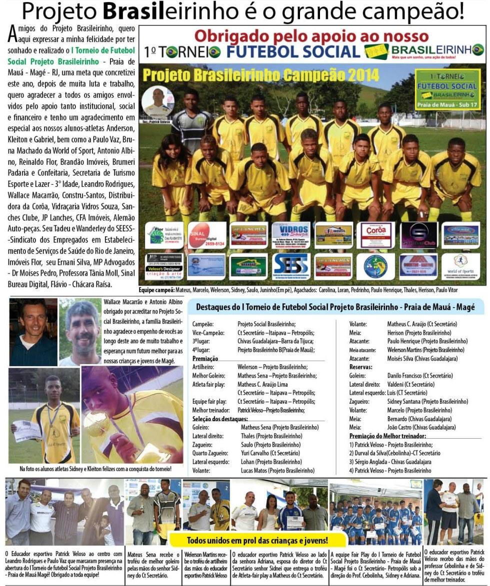 Jornal Informativo Projeto Brasileirinho Edição Agosto  edição 53 2014-01