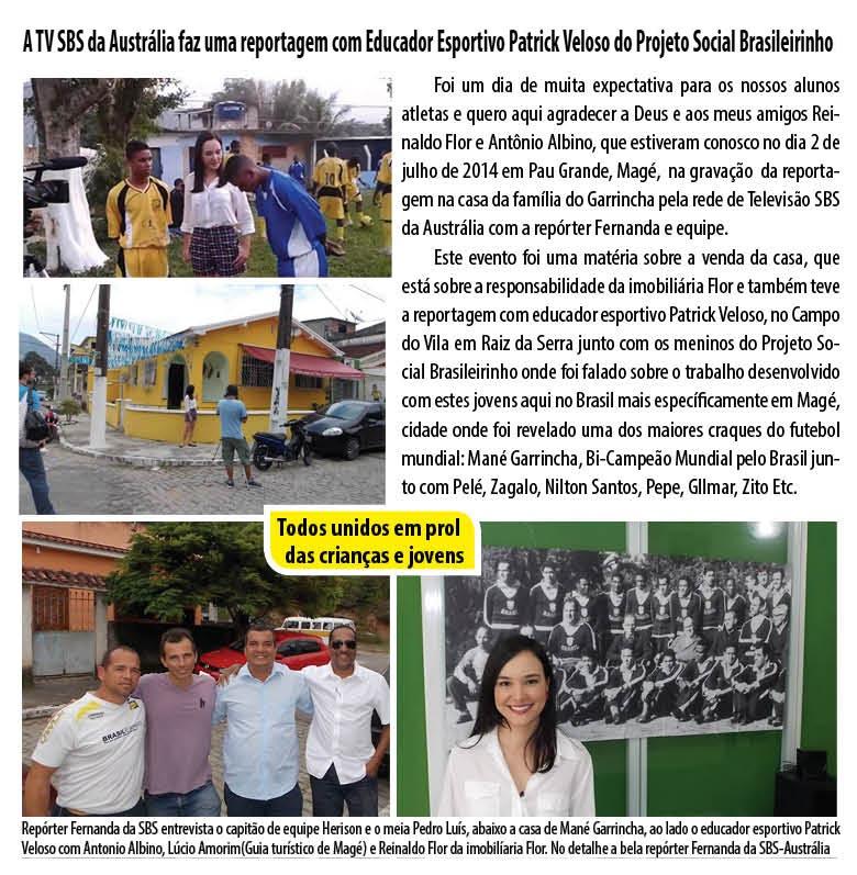 Jornal Informativo Projeto Brasileirinho Edição Agosto  edição 53 2014-02