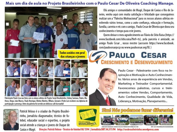 Jornal Informativo Projeto Brasileirinho Edição Agosto  edição 53 2014-03