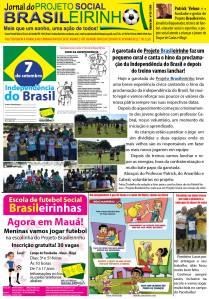 Jornal Informativo Projeto Brasileirinho Edição Setembro  edição 55  2014