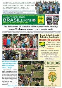 Jornal Informativo Projeto Brasileirinho Edição Setembro  edição 56-14-Pagina 01