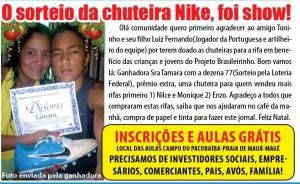 Sorteio_Chuteira_Nike_Doação_Toninho_Luis