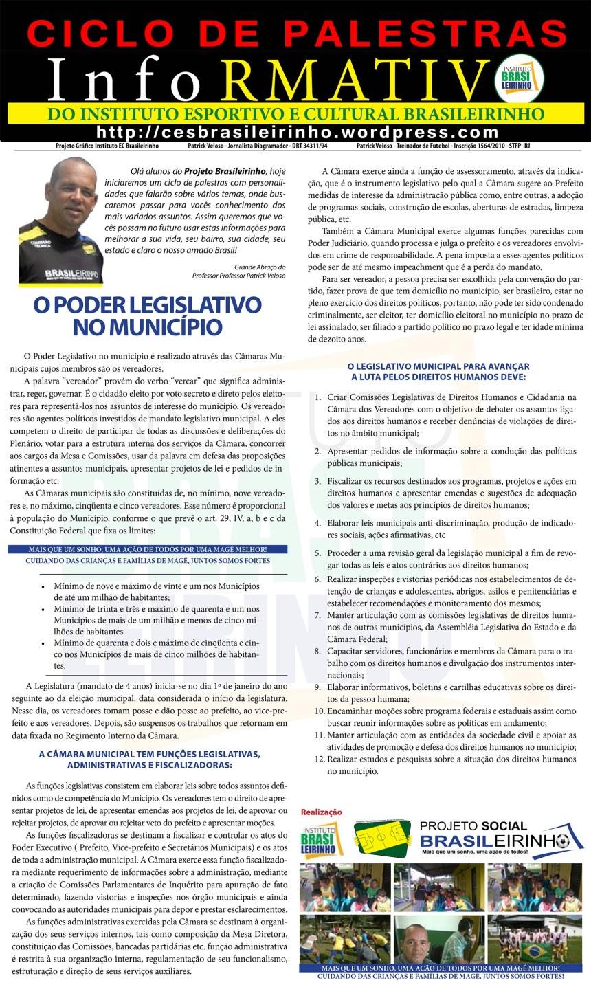 Cartilha O PODER LEGISLATIVO nos Municípios!