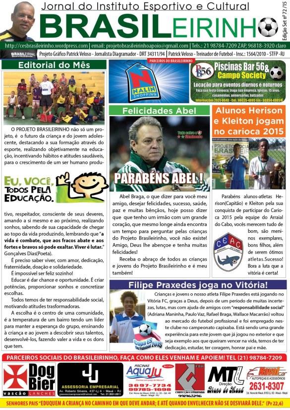 Jornal Instituto Brasileirinho - Edição Set - 72 - 15