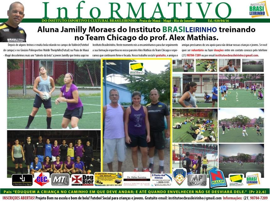 Informativo 019-APRESENTAÇÃODAJAMILLYMORAISNOTEANCHICAGO-04-2016